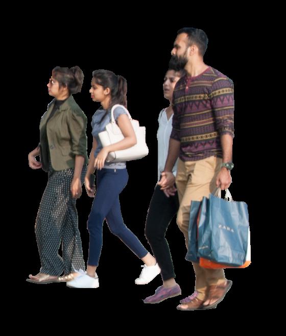 group of people walking png. Group Shopping Of People Walking Png